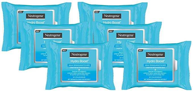Neutrogena Khăn ướt Neutrogena Hydro Boost Aqua Cleaning Wipes Làm sạch 6 Bao bì (6 x 25)
