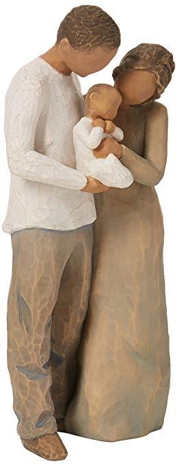 Willow Tree Đồ trang trí bằng gỗ Cây liễu chúng ta là ba bức tượng