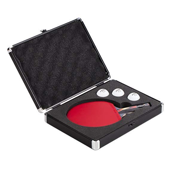STIGA nhôm bóng bàn dơi vỏ cứng vận chuyển và lưu trữ một cây vợt và ba quả bóng