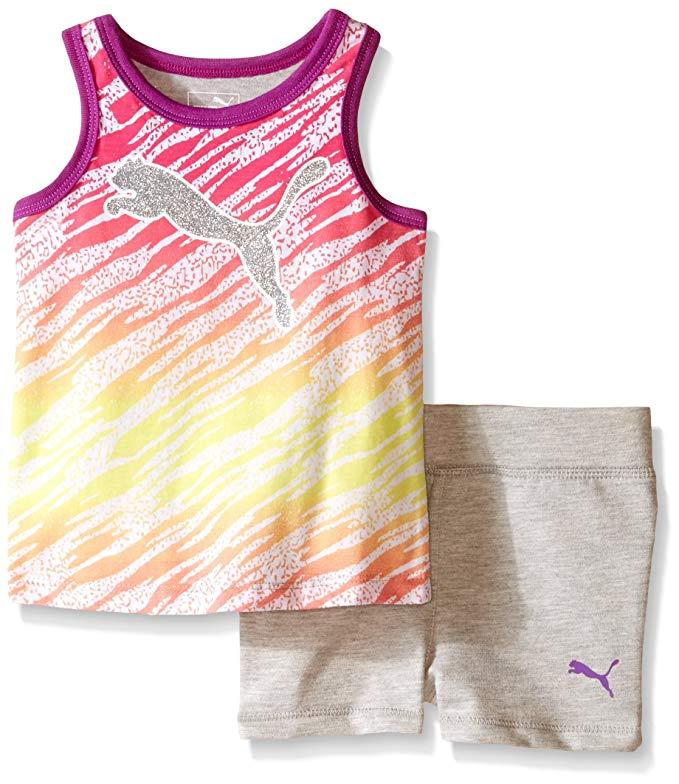 Cô gái Puma Vest và quần short Set