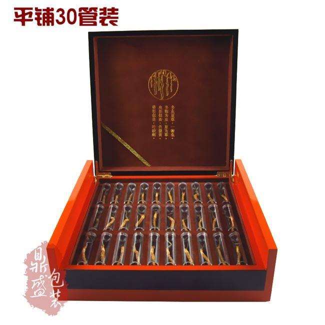 Hộp giấy bao bì 18 năm mới militaris hộp hộp quà xa xỉ trùng thảo đơn ống điếu 30 chi nhánh Mộc