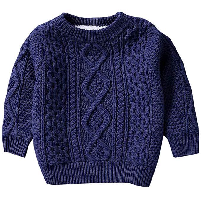 BINPAW trẻ em cổ điển xoắn ấm len lót áo len, 12 tháng - 10 tuổi