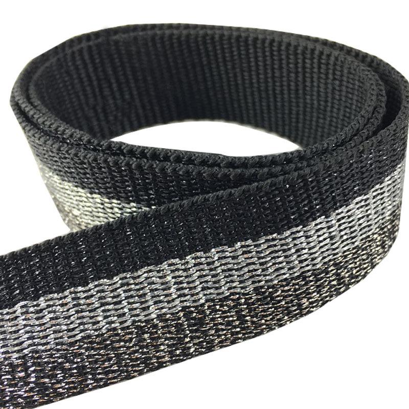DESHENG đai , dây , chỉ Đài Loan nhập khẩu ruy băng lụa vàng và bạc quần áo ruy băng lụa vàng và bạc
