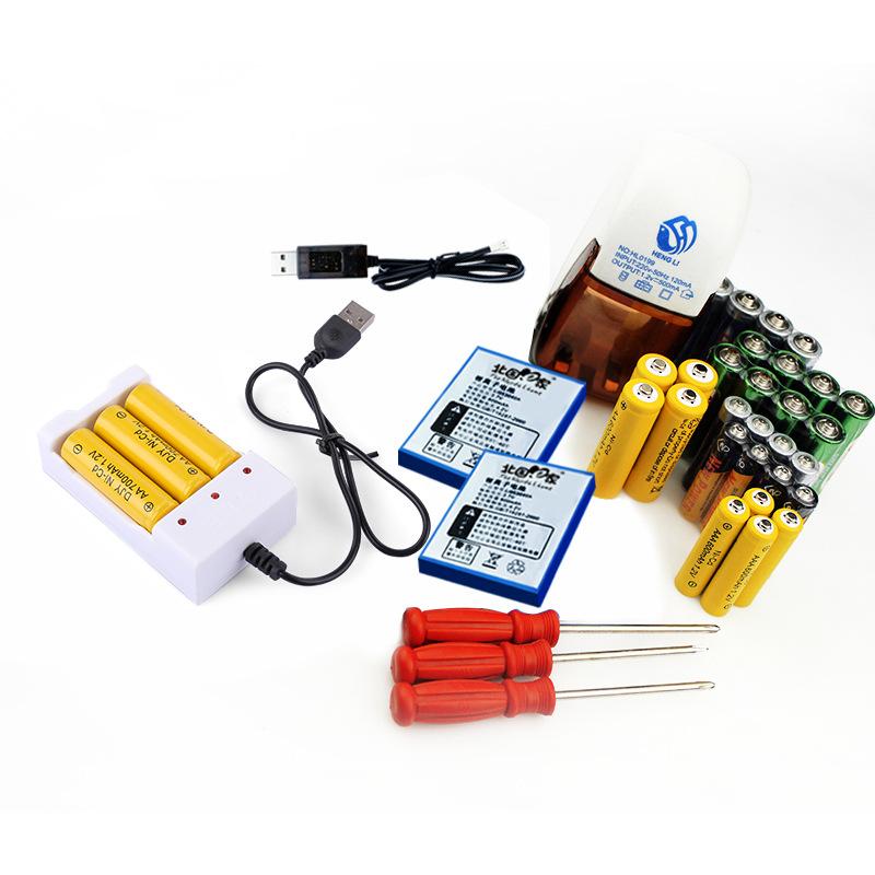 Phụ kiện sạc 2-4 chỗ và 5 - 7 pin thông thường và có thể sạc lại pin lithium.