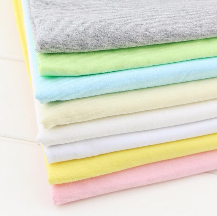 ZHIMIAN Vải Jersey Cotton đơn dệt kim cotton áo thun bé gái 32s cơ sở lót bông lót vải dệt kim