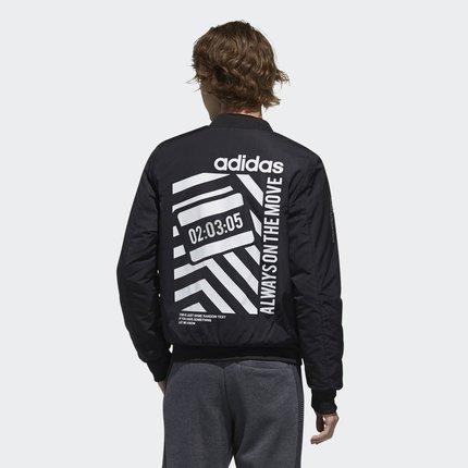 Adidas  Phái nam Adidas chính thức Adidas neo M PAD JKT cotton phù hợp với nam DZ7575