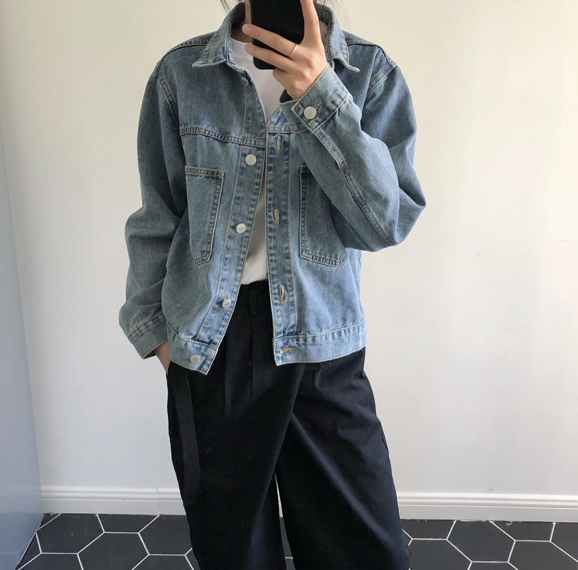 Áo khoác jean kiểu denim phong cách dành cho Nữ .