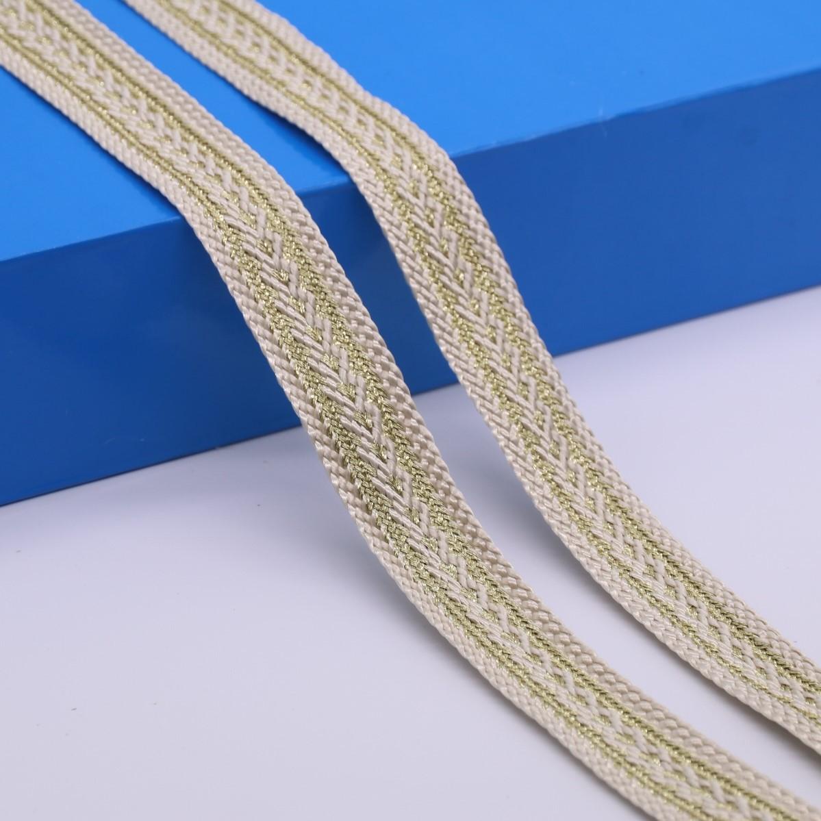 YALE đai , dây , chỉ Bán nhà máy sợi polyester 2.2cm sợi vàng vải dệt nhà Jacquard dây đeo rèm Hàn Q