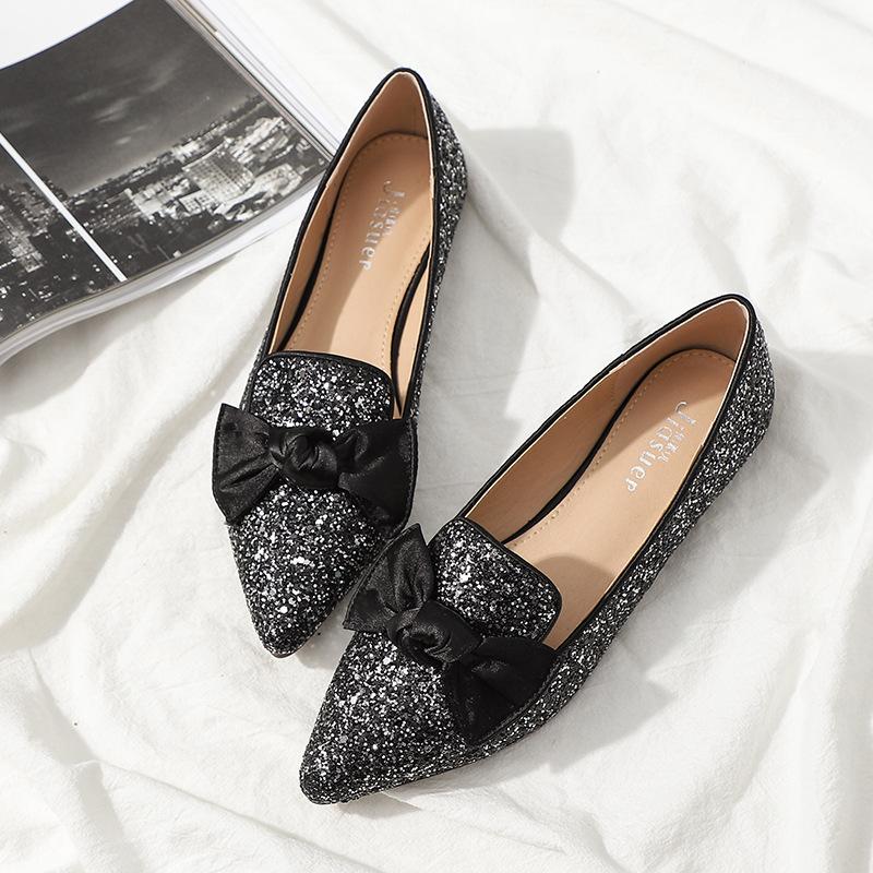 Giày Mọi Da Mũi Nhọn dành cho Nữ , Thương Hiệu : JIASUER .
