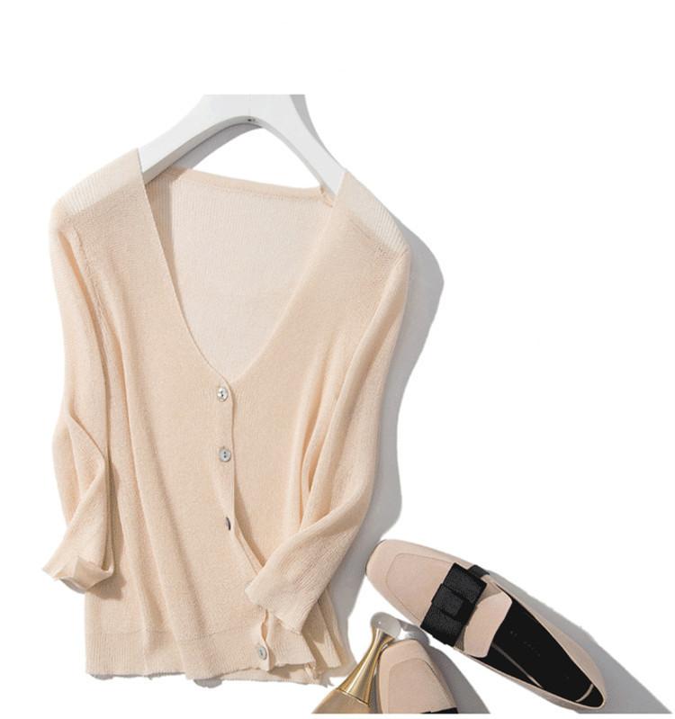 Áo khoác chống nắng cardigan nữ mùa hè , vải mỏng