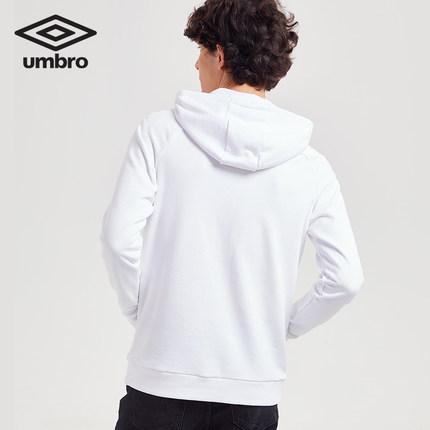 Áo Hoodie nam tay dài màu trắng Umbro