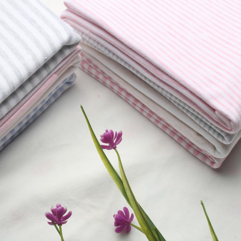 JIAMEN Vải Jersey 40 bông chải màu bông kéo khung dải vải dệt kim hai mặt vải thấm và thoáng khí mà