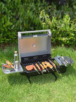 Chant Nồi lẩu điện, đa năng, bếp và vỉ nướng BC036-J Grill Home Than ngoài trời gấp bằng thép không
