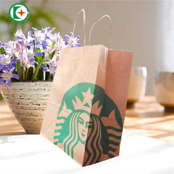 DAFA NLSX Bao bì thực phẩm thông thường Ou Túi giấy kraft Takeaway túi giấy di động tùy chỉnh in log