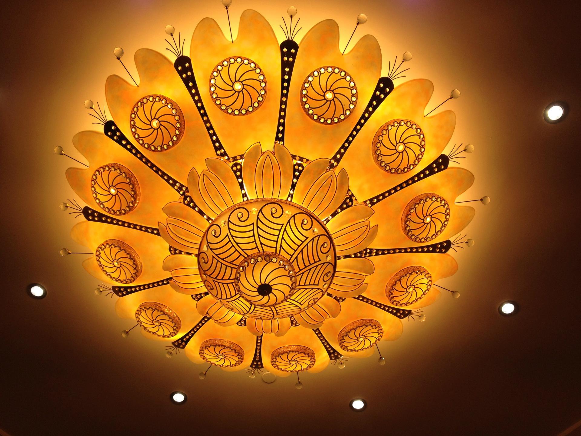 Đèn trang trì Tùy chỉnh VIP, phòng khách sạn hạng sang loại đèn trung tâm kỹ thuật ánh sáng đèn tron