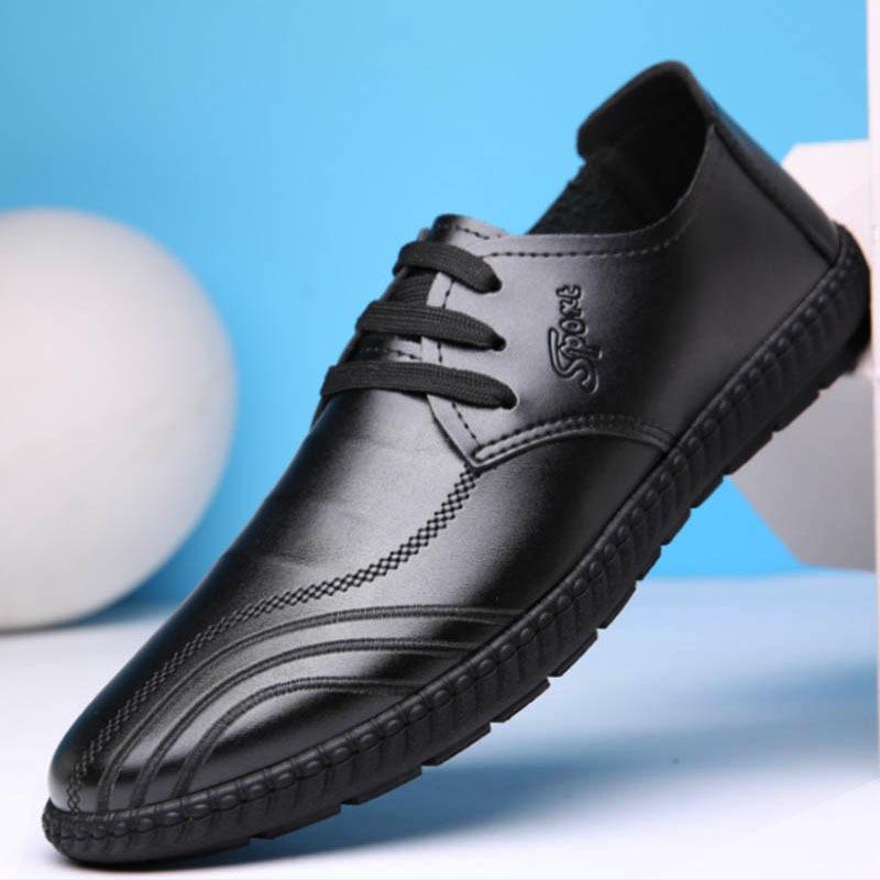 ZHENGKOULV - Giày mọi đế thấp Giày nam bằng da mềm .