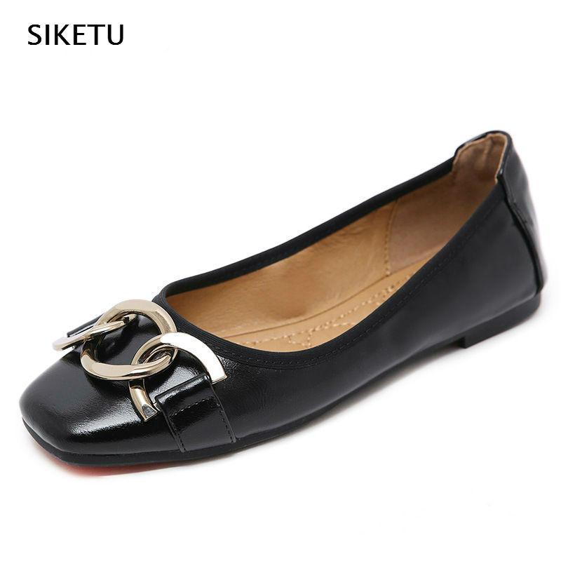 Giày búp bê bằng da mềm dành cho Nữ .
