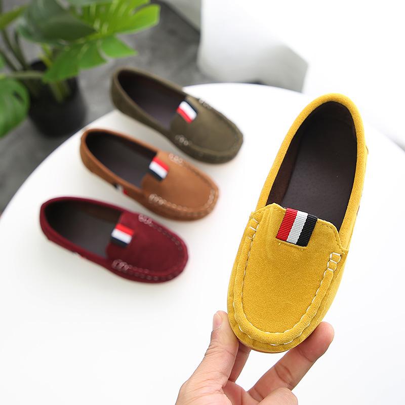 Giày mọi Gommino Bằng Da mềm dành cho Trẻ Em .