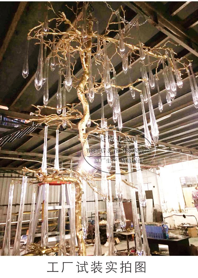 Đèn trang trì Cầu thang đèn chùm đèn pha lê bầu dục dài đèn chùm đèn trong phòng khách nhà thiết kế