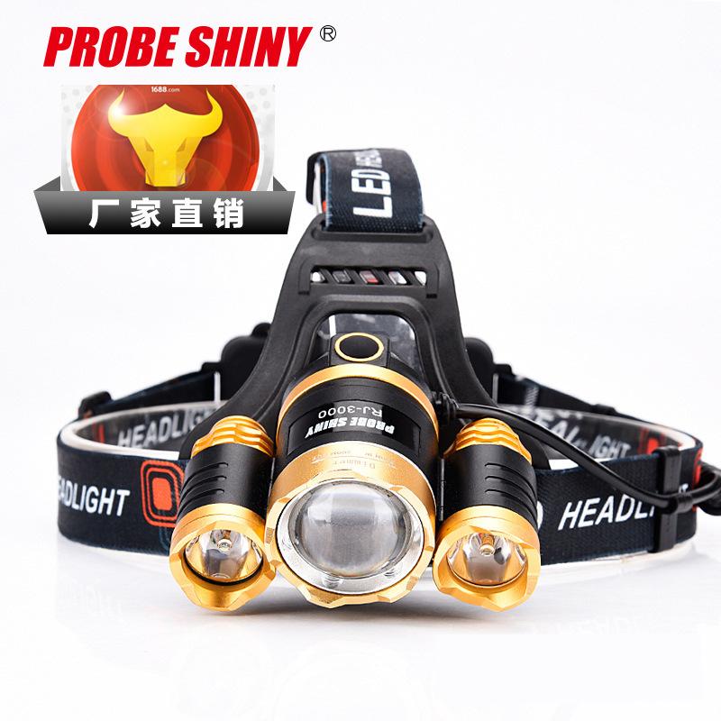 PROBE SHINY Đèn điện, đèn sạc Mới tập trung sạc led mạnh đầu nhẹ siêu sáng không thấm nước ánh sáng