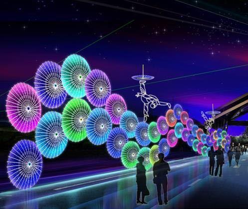 Đèn pha chiếu sáng đường hầm Hệ thống đường hầm LED thời gian ánh sáng biểu diễn chuyên nghiệp trang