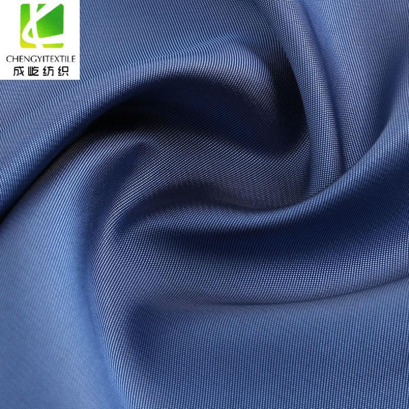 CHENGYI Vải Polyester Vải lụa nam twill mịn lót 2/1 xiên polyester sợi tơ viscose sợi thành phẩm phù