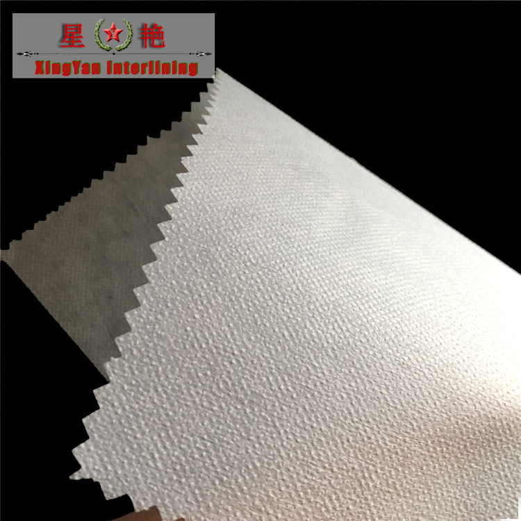 XINGYAN Vải lót Nhà máy bán buôn trực tiếp lót quần áo lót không dệt lót 6100 Pha chế polyester đôi