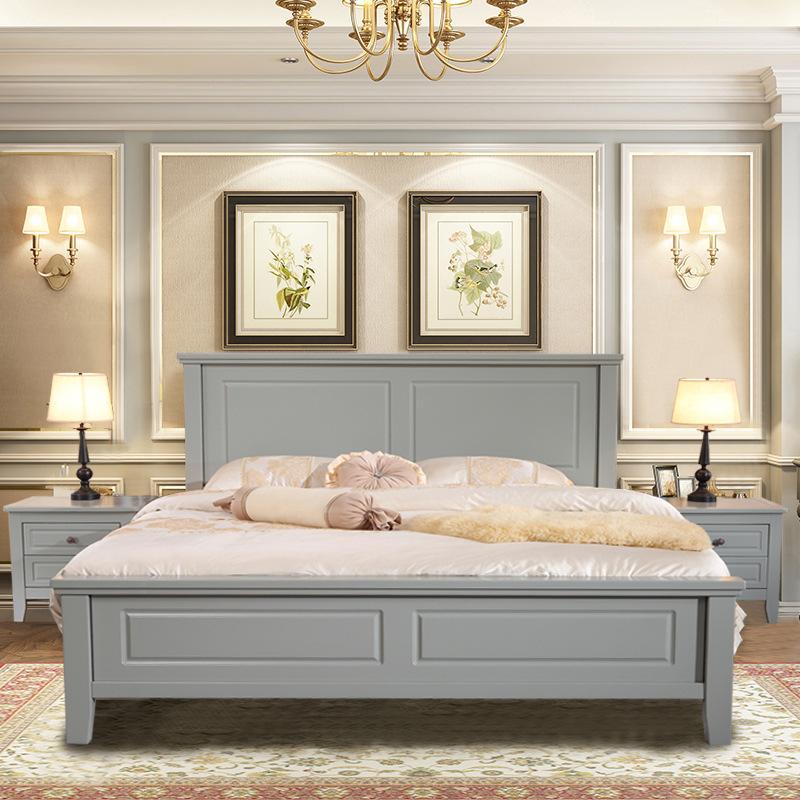 HANWEI Nội thất giường Ngủ gỗ sồi  nguyên khối 1,5m1,8 m phong cách hiện đại