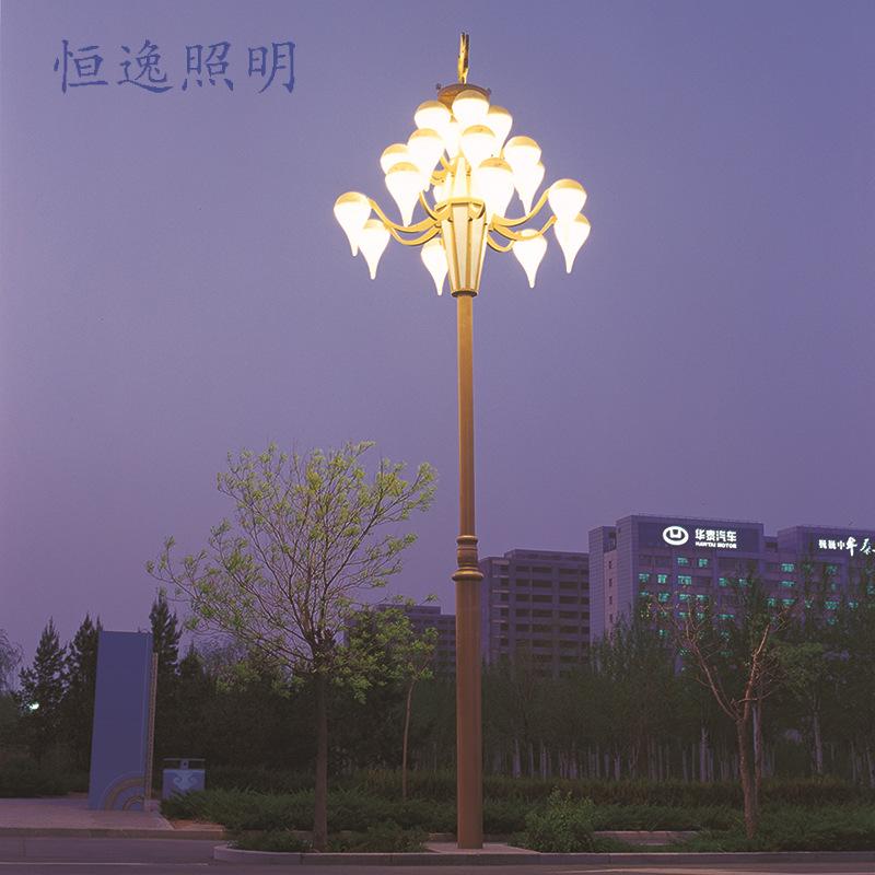 Đèn LED chiếu sáng công Magnolia đèn quảng trường ngoài trời vườn ánh sáng đèn Trung Quốc tạo hình v