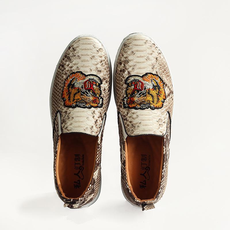 Giày Lười bằng Da python dành cho Nam , Thương Hiệu :Lok Fu