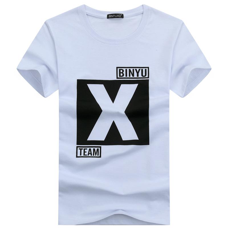 BINYUXD Áo thun Mùa hè 2018 mới áo thun nam tay ngắn cộng với phân bón XL trẻ trung bán áo thun tay