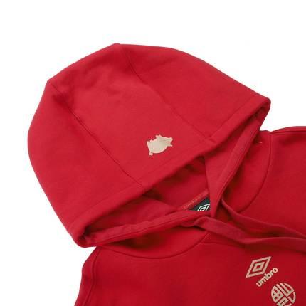 Áo khoác Hoodie Umbro màu đỏ tay dài UI191AP2415