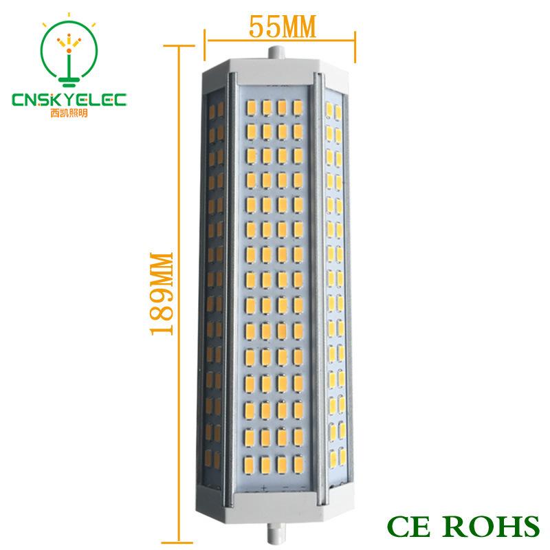 Bóng đèn cắm ngang Dẫn R7S 50W bán buôn 200 độ cao không ổ cắm đèn LED hoành hoành chảy