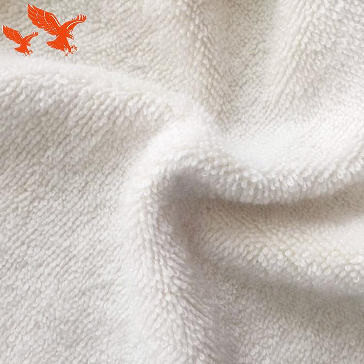 SHUANGYING Vải khăn lông Nhà máy bán hàng trực tiếp Cotton vải terry Cotton polyester cắt nhung trắn