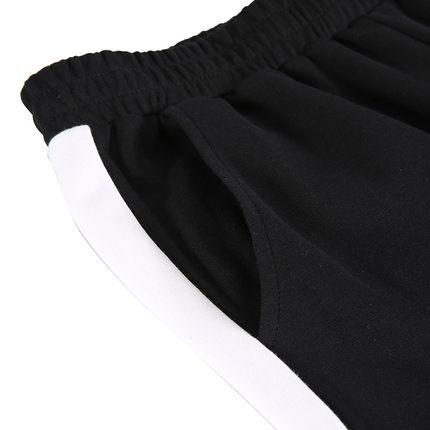Peak Quần Quần mới của phụ nữ dệt kim quần bó sát thẳng thoải mái cổ điển màu tương phản quần giản d
