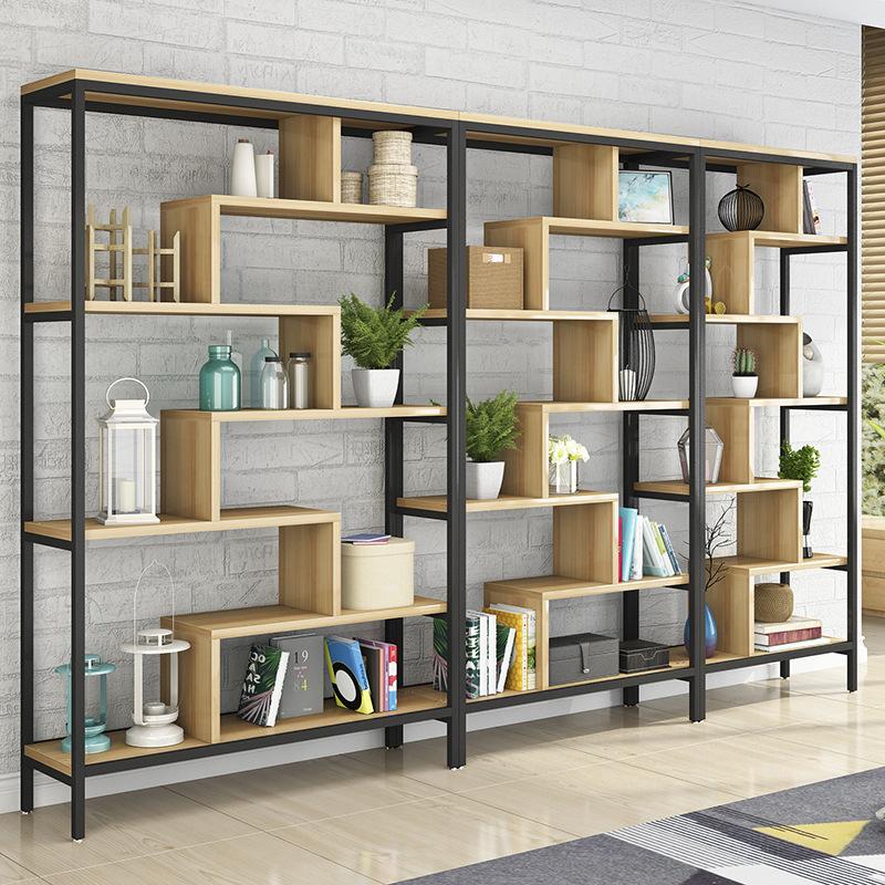 Nội thất Giá đỡ ,kệ sách Bằng Gỗ , Có nhiều tầng lưu trữ , Nhìn hiện đại tối giản cho phòng khách.