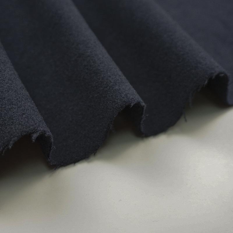 JUNHUA Vải pha sợi Vải len Tr pha trộn vải jersey đôi dệt màu rắn Nhật Bản và Hàn Quốc áo khoác áo v