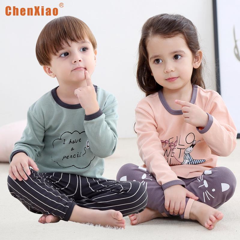Đồ bộ mặc nhà cho trẻ em Chenxiao chất liệu vải cotton