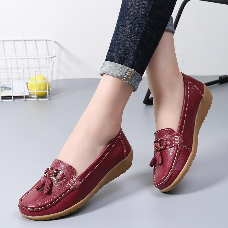 Giày mọi Gommino Bằng Da mềm dành cho Nữ .