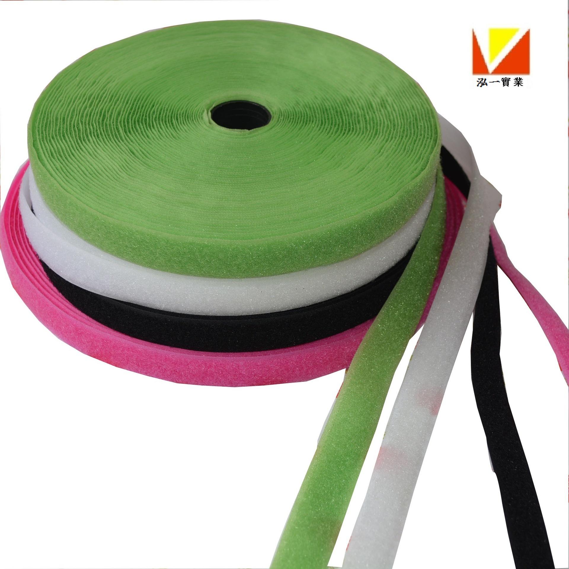 HONGYI Khoá dán Nhà máy Velcro trực tiếp Velcro tùy chỉnh Velcro bé khóa đen trắng dính với khóa lôn