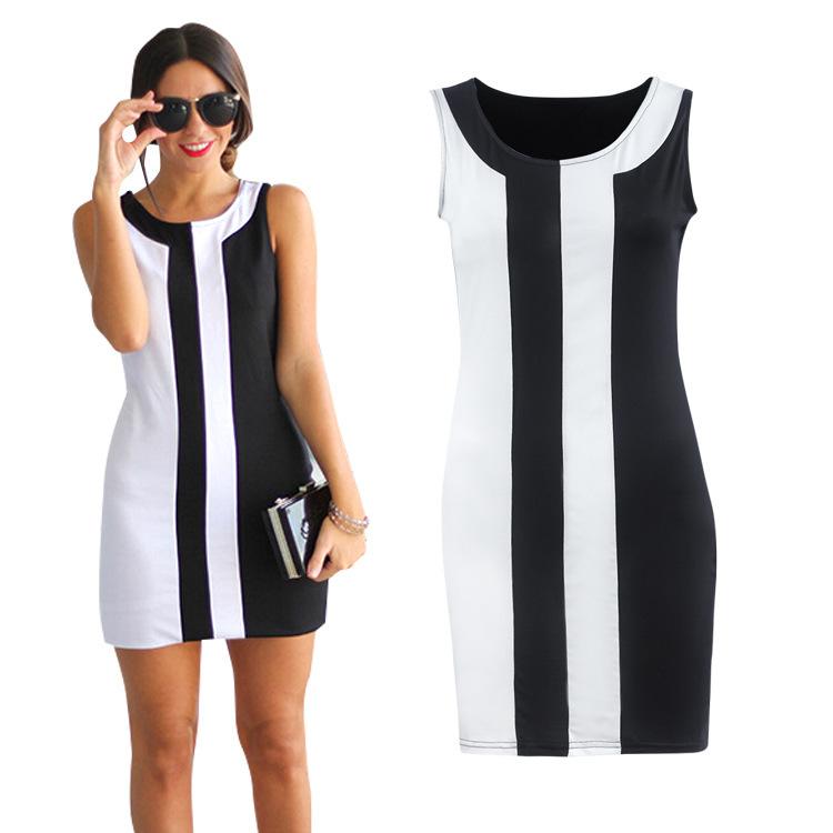 Đầm Chúc ebay bùng nổ thời trang hè 2018 khâu tay không cổ tròn mini váy gợi cảm