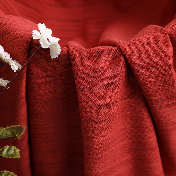 BENHOU Vải Jersey Áo len dệt kim tre-cotton 32STC 160g vải dệt kim cotton trẻ em hiện đại Thời trang