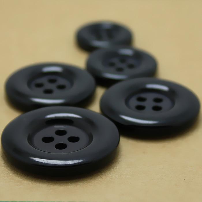 HENGXING Nút nút nhựa tròn bên bốn mắt áo khoác gió màu đen áo len nam phù hợp với quần tây khóa áo