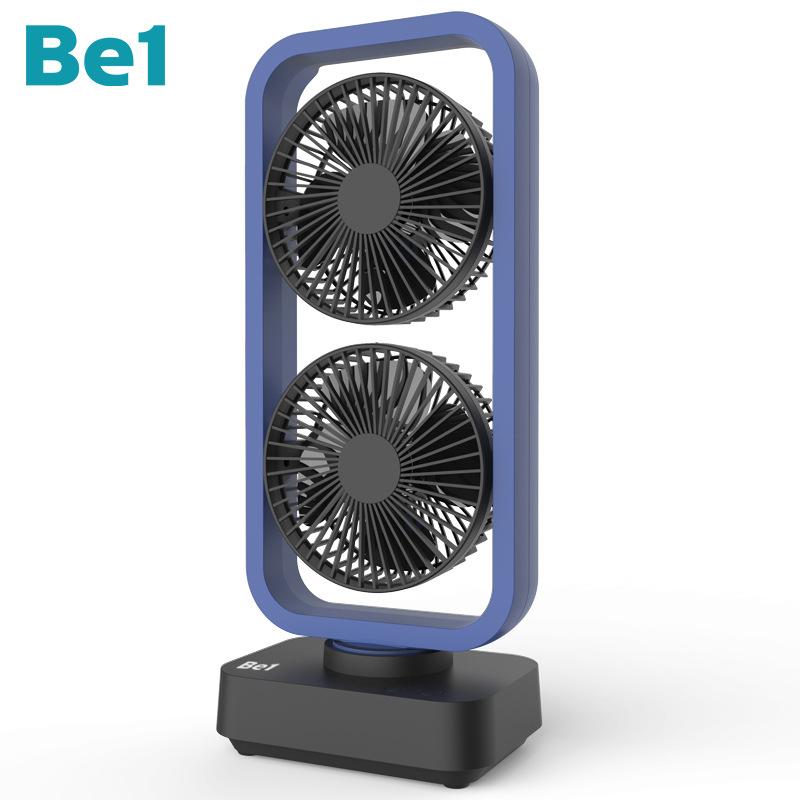 Be1 Quạt điện, quạt máy 2019 mới Be1 quạt tháp đôi lắc đầu usb polymer pin quạt máy tính để bàn văn