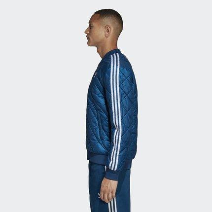 Adidas  Phái nam  Adidas chính thức Shamrock SST QUILTED Bộ đồ cotton nam DV2301 EB4073