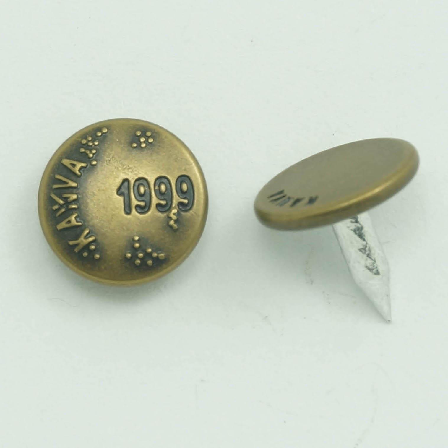 Nút tùy chỉnh I-Nút Pocket Rivets Góc Knuckles Nút Vintage Metal Cap Nail Túi da Boots Nút đinh
