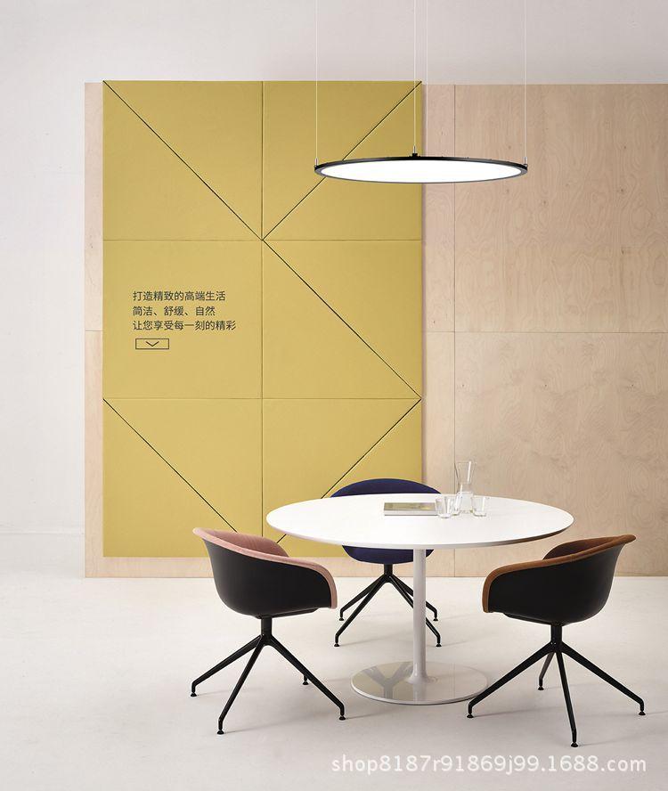 Bóng đèn LED trần vuông Lãnh đạo châu Âu đơn giản. Nhật thực hút tròn trên đèn chùm ánh sáng đèn lắp