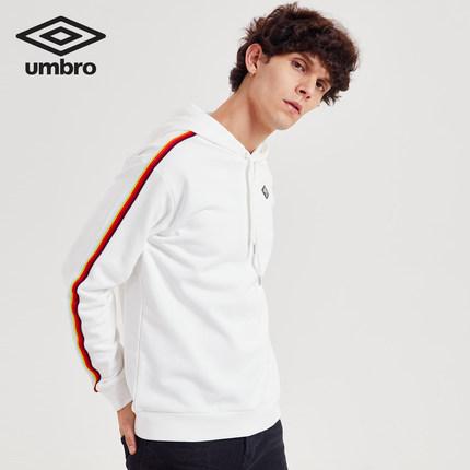 Áo khoác nam màu trắng, tay dài và mũ trùm đầu Umbro