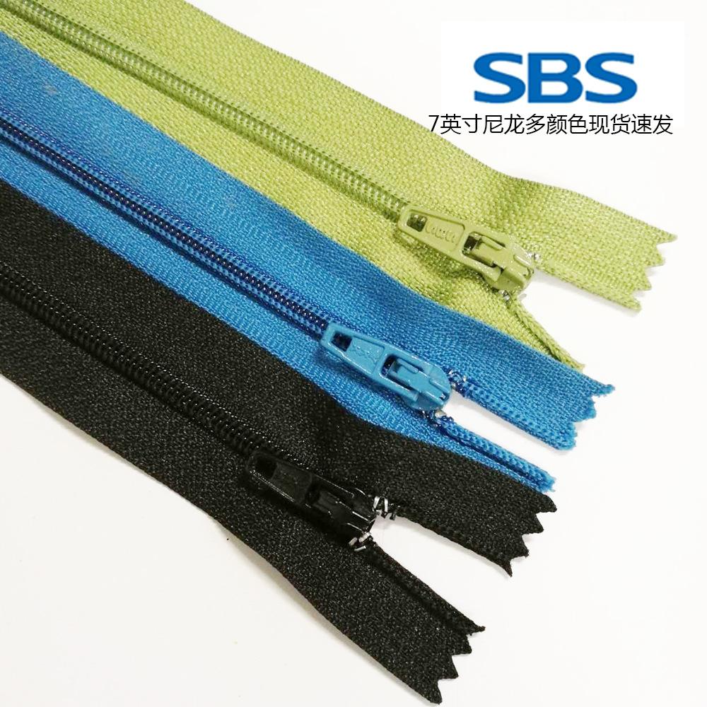 SBS Dây kéo Nylon 3 nylon đóng đuôi dây kéo 17cm cao cấp nylon dây kéo bán buôn quần dây kéo tại chỗ