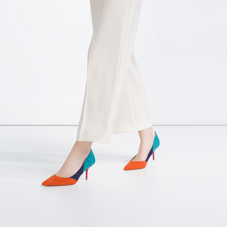 Giày búp bê Da cao gót Thời Trang dành cho Nữ .